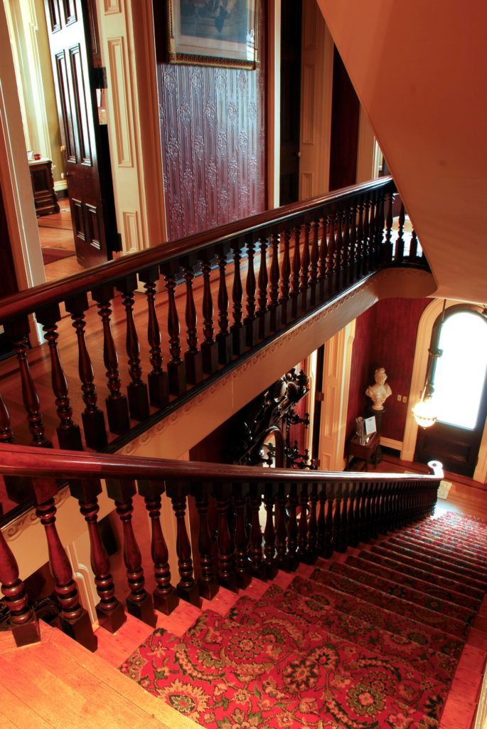 The Brennan House Main Staircase from 2nd Fl
